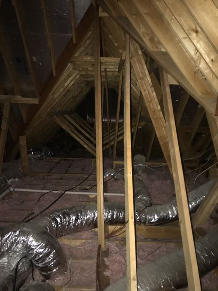 Closed Cell Spray Foam Attic Insulation And Removal Of Old