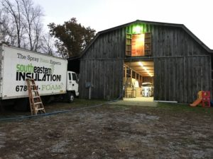 Barn Insulation with Closed Cell Spray Foam in Rockmart, GA