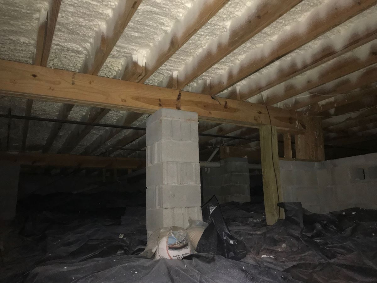 Crawlspace Insulation with Closed Cell Spray Foam Insulation